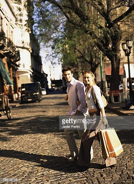 Couple shopping in San Telmo, Buenos Aires