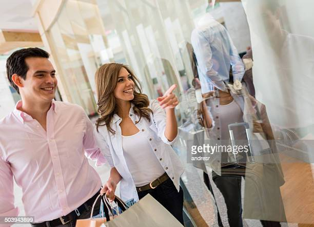 Couple shopping