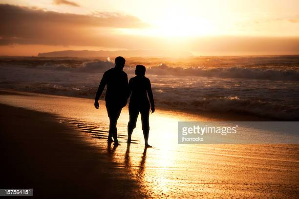 Paar Silhouette am Strand
