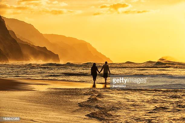 Couple Silhouette on Beach