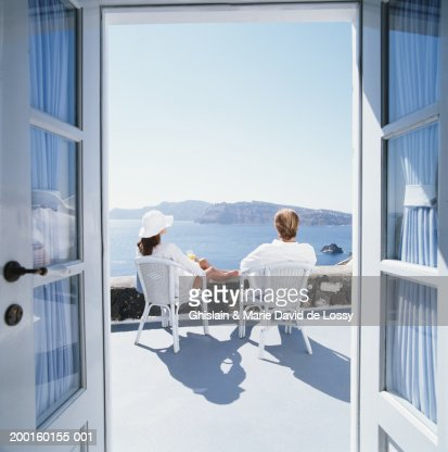 Feet up balcony stock photos and pictures getty images for Balcony overlooking ocean