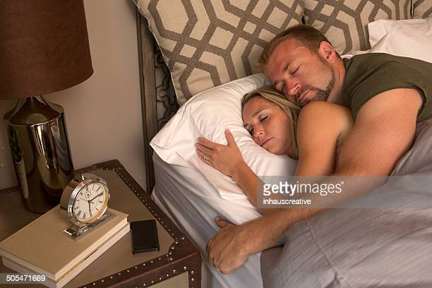 Couple sleeping in the morning