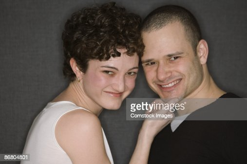 Couple smiling : Stock Photo