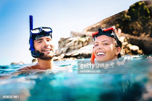 Couple Snorkeling