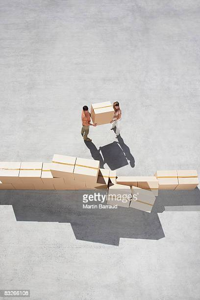 Couple stacking boxes