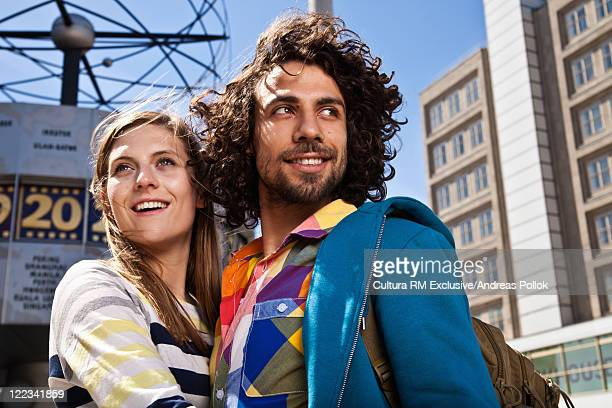 Couple standing at Alexanderplatz