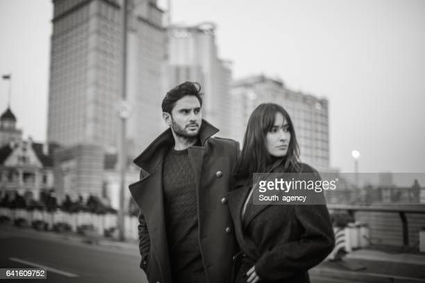 Couple standing on the street