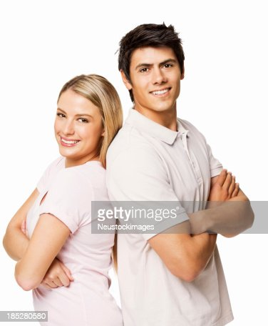 Couple Standing Together - Isolated