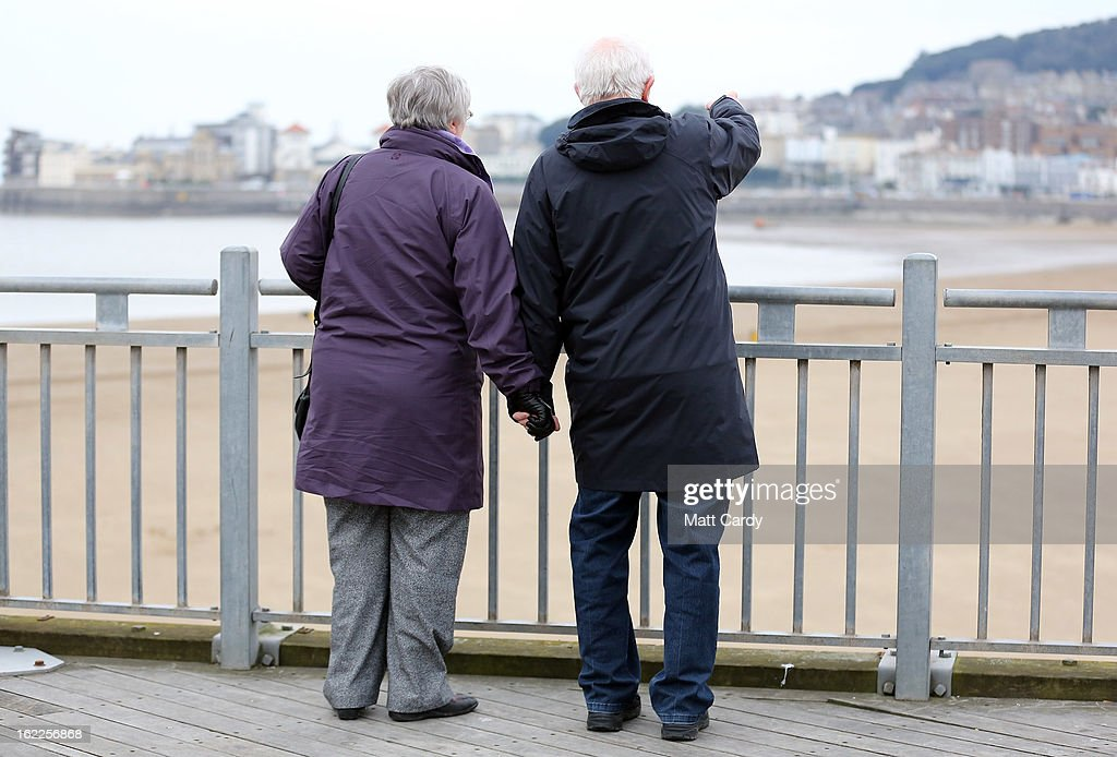 A couple take in the view on February 21, 2013 in Weston-Super-Mare, England. According to recently released figures by the Ministry Of Justice, Weston-super-Mare has the highest rate of divorce in the UK.
