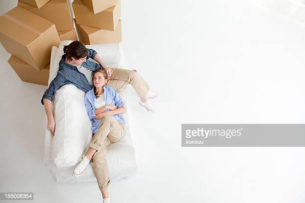Couple prenant une pause