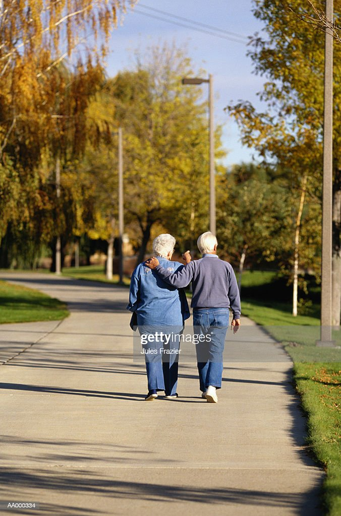 Couple Taking a Walk : Stock Photo
