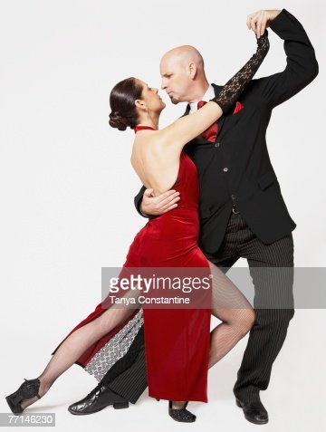 Couple tango dancing : Stock Photo