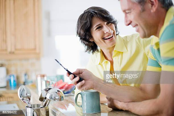 Couple Text Messaging