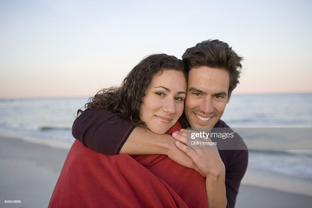 Couple together at the beach. : Stock Photo