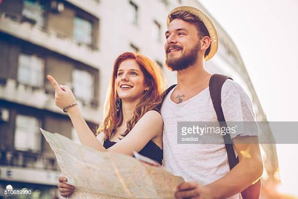 Couple traveling Europe
