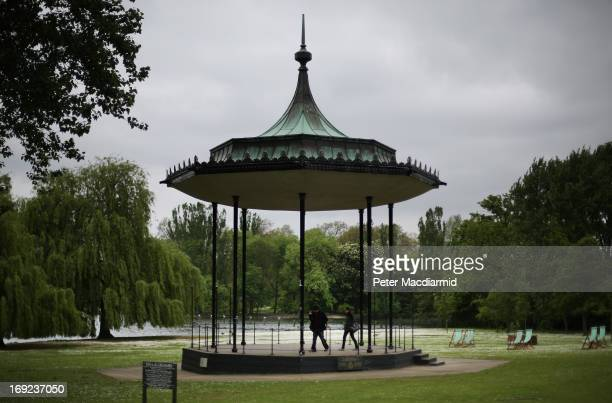 A couple visit Regent's Park bandstand on May 22 2013 in London England Anthony Downey has today been charged with the 1982 Hyde Park bombing in...