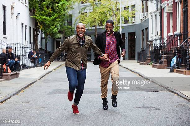Couple walking in Greenwich Village - NY