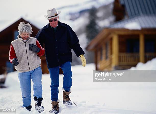 Couple Walking in the Snow