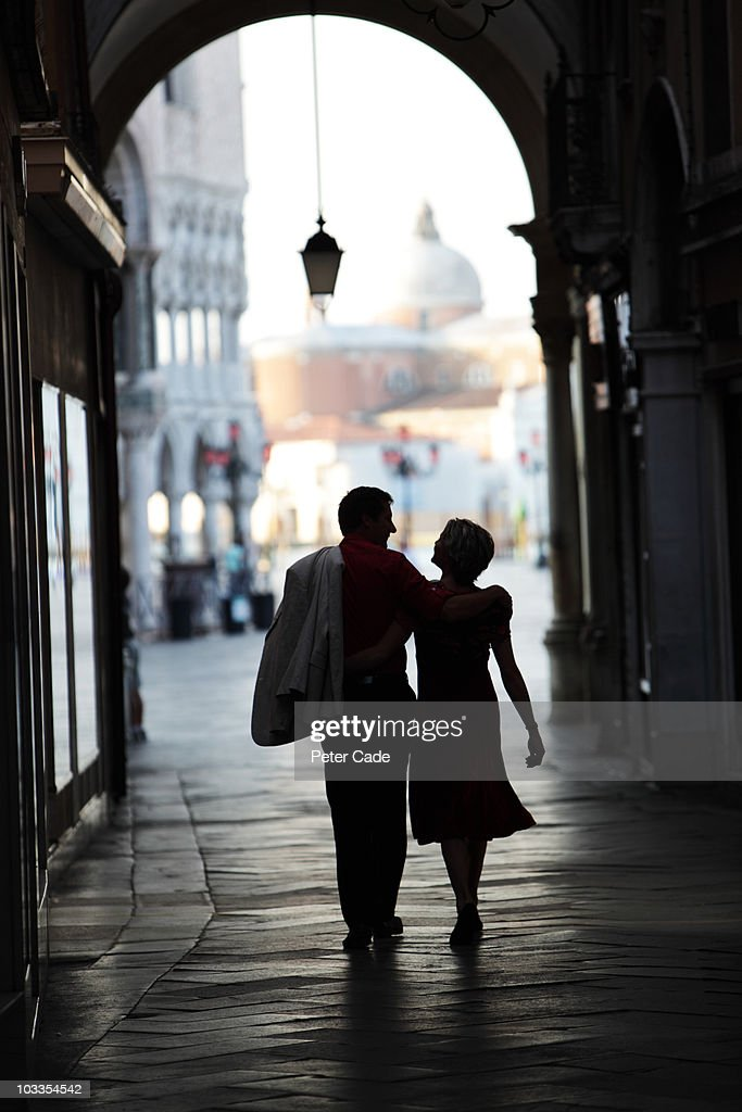 Couple walking in Venice : Stock Photo