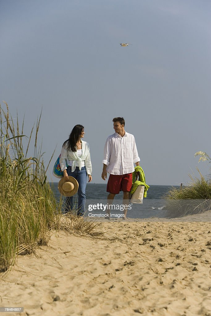Couple walking : Stock Photo