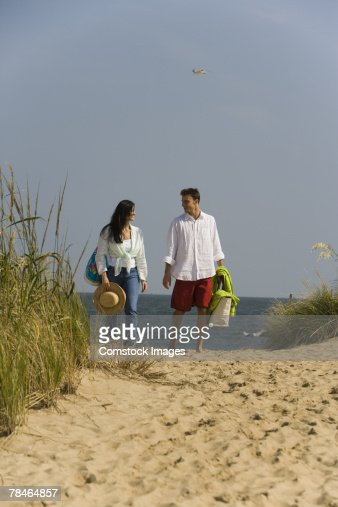 Couple walking : Stock Photo