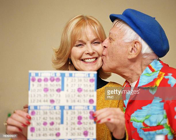 Couple winning at bingo