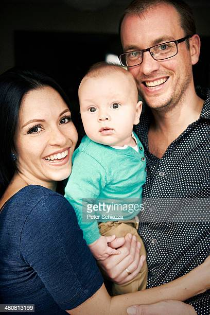 Couple with baby boy