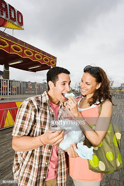 Couple with candy floss