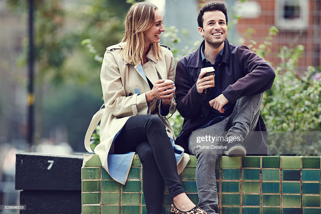 Couple with coffee : Stock Photo