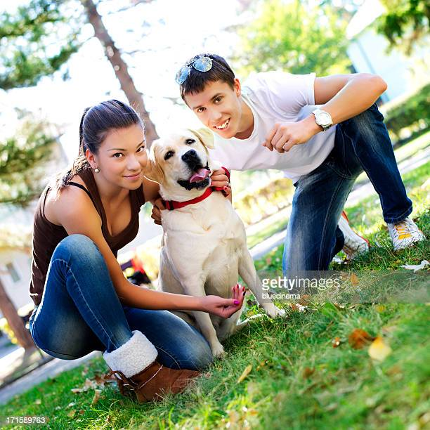 Couple With her dog