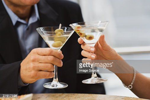 Couple with martinis