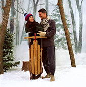 Couple with sled