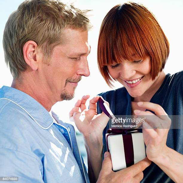 Couple with small gift