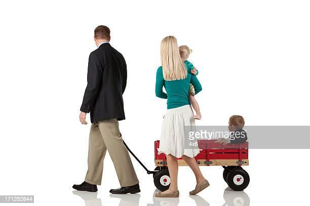 Paar mit Ihren Kindern