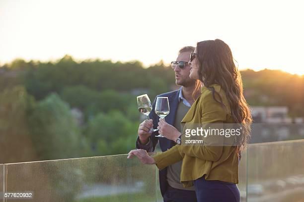 Couple with wine