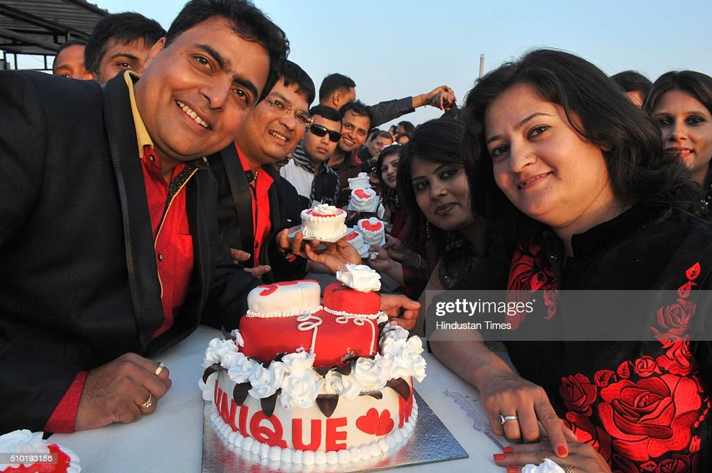Couples celebrate the Valentine day on February 14, 2016 in Indore, India. Valentine's Day, also known as Saint Valentine's Day or the Feast of Saint Valentine, is a celebration observed on February 14 each year. It is celebrated in many countries around the world, although it is not a public holiday in most of them.