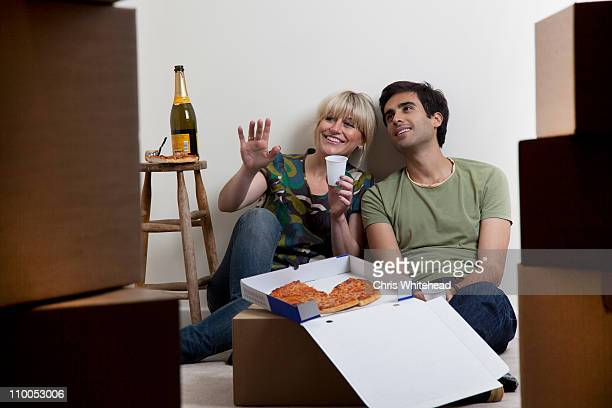 Couples first night in new apartment