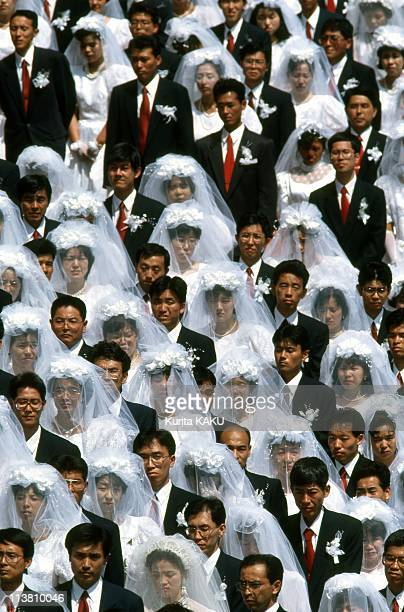 20000 couples join in a Mass Wedding at Seoul Olympic Stadium on August 25 1992 in SeoulSouth Korea