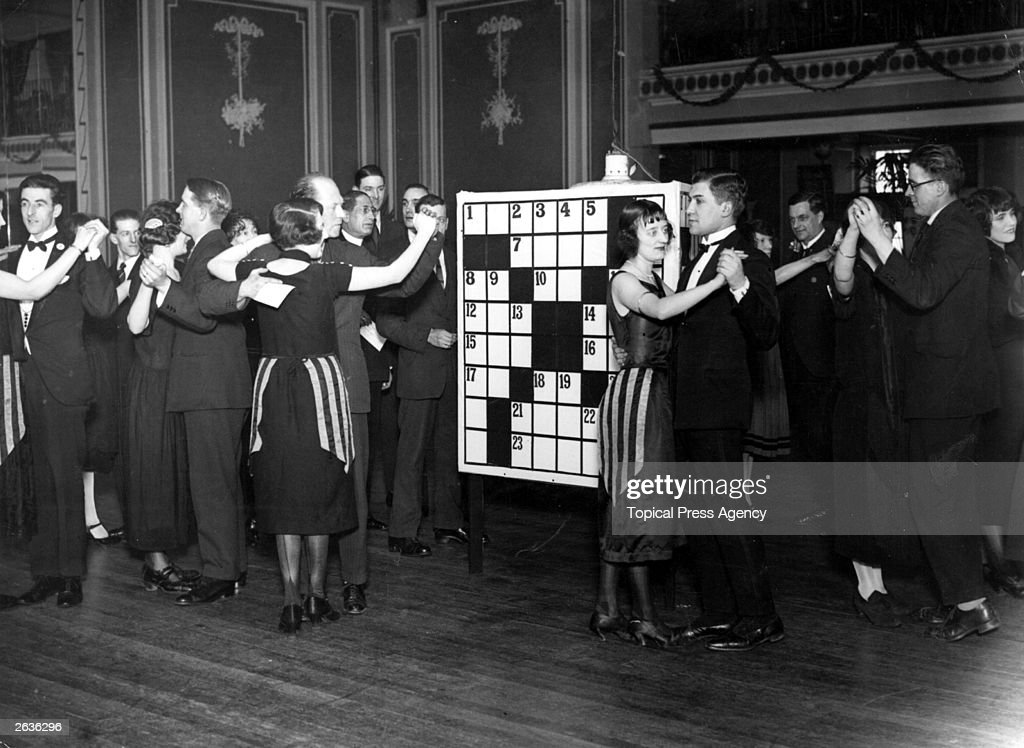 Couples take to the floor in the 'Crossword Puzzle' dance at East Ham Palais de Dance.