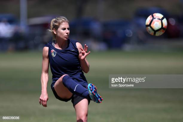 Courage's McCall Zerboni The NWSL's North Carolina Courage played a preseason game against the Wake Forest Demon Deacons on April 1 at WakeMed Soccer...