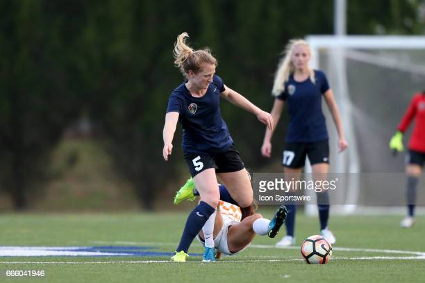 Courage's Samantha Mewis steps through a tackle by Tennessee's Ariel Kupritz The NWSL's North Carolina Courage played their first preseason game...