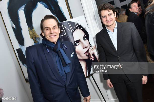 R Couri Hay and Ben Diamond attend AVENUE Celebrates our Redesign at 14 East 11th Street on March 21 2017 in New York City