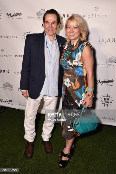 R Couri Hay and Janna Bullock attend DuJour's Jason Binn And WellNEST Celebrate Miami Beach's Art Basel KickOff at The Confidante on December 6 2017...