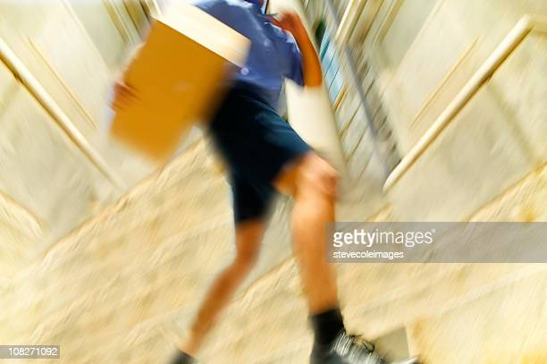 Courier Running with Package