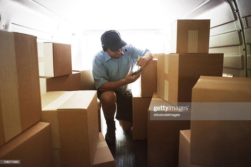 Courier Van : Stock Photo