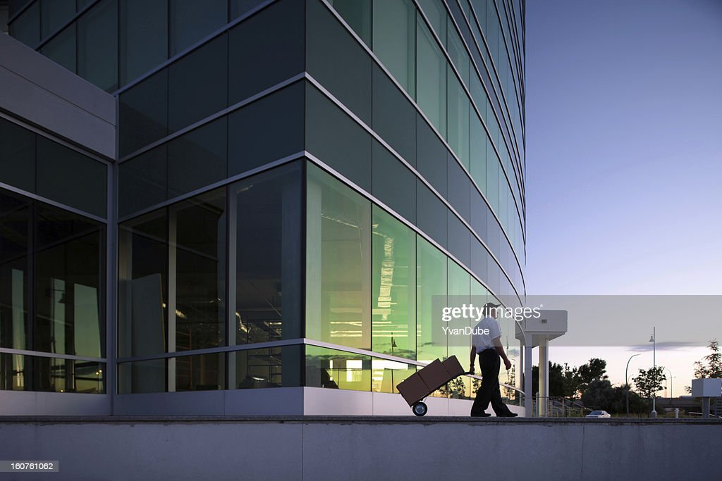 courrier moving boxes : Stock Photo