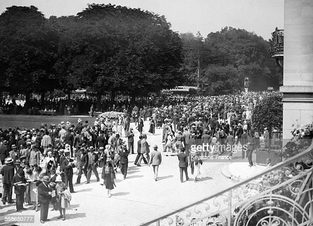 Course hippique en juin 1930 a Auteuil France