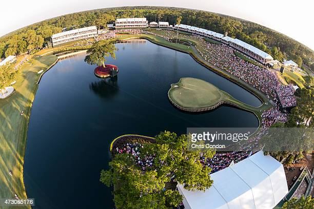A course scenic as Sergio Garcia of Spain tees off on the 17th hole during a playoff in the final round of THE PLAYERS Championship on THE PLAYERS...
