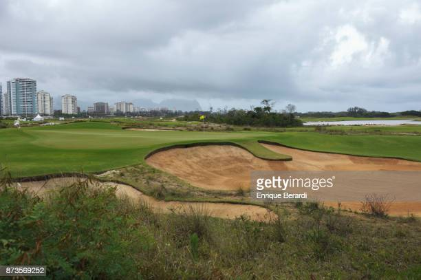 A course scenic of the 15th hole during the final round of the PGA TOUR Latinoamerica 64 Aberto do Brasil at the Olympic Golf Course on October 15...