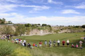 A course scenic of the fifth green during the final round of the Justin Timberlake Shriners Hospitals for Children Open held at TPC Summerlin on...